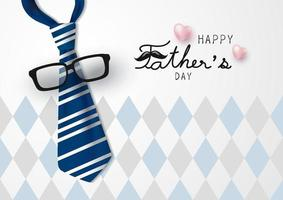 glückliche Vatertagsvektorillustration vektor