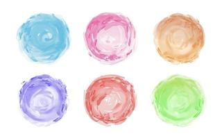 Aquarellpinsel lokalisiert auf weißer Hintergrundvektorillustration