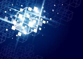 blockchain teknik bakgrund vektorillustration vektor