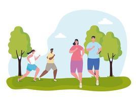 Marathonläufer laufen im Freien