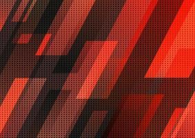 abstraktes Technologiekonzept, rotes und schwarzes geometrisches diagonales Streifenmuster. moderner Designhintergrund. vektor