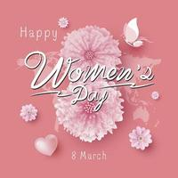 8 mars kvinnodagvektorillustration