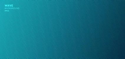 abstrakte Banner-Webschablone, blauer Wellenlinienmusterhintergrund und -beschaffenheit. vektor