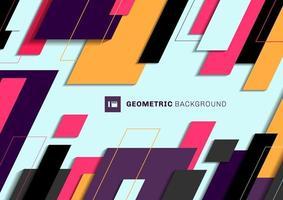 abstrakte geometrische bunte Diagonale, die auf hellblauem Hintergrund überlappt. vektor
