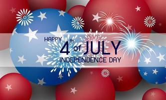 glückliche 4. Juli Unabhängigkeitstag Amerika Urlaub Hintergrund Design Vektor-Illustration