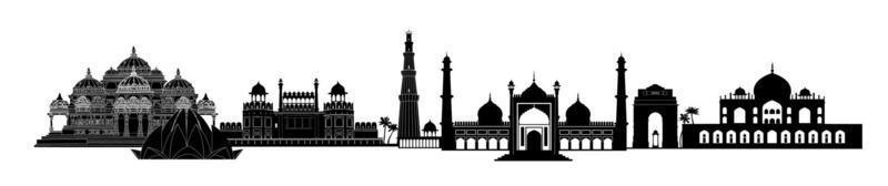 Delhi, Indien Sehenswürdigkeiten. Skyline der indischen Stadt