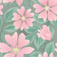 Blume nahtloses Sommermuster. Blumengartenfliesenhintergrund.
