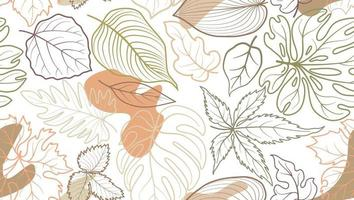 Blumenmuster mit Blättern. Blume nahtlosen Sommer festlichen Hintergrund.
