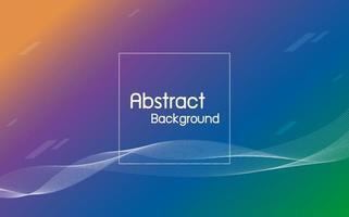 abstrakte Farbe mit Linienwellenhintergrundvektorillustration