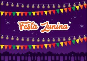 Festa Junina affischdesign vektor