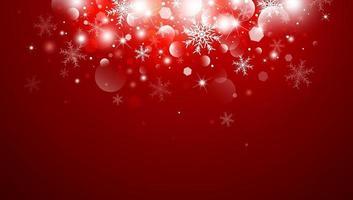 Weihnachtshintergrundkonzeptentwurf der weißen Schneeflocke und des Schnees mit bokeh Vektorillustration