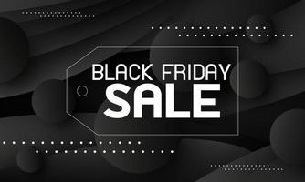 schwarzer Freitag Verkauf Banner Design Vektor-Illustration