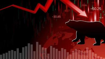 björnmarknadsdesign av ekonomisk kris vektorillustration vektor