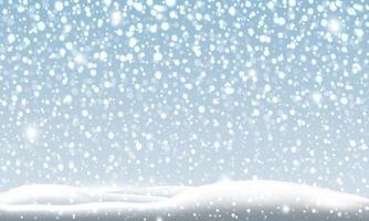 Schneefall in der Winterweihnachtshintergrund-Vektorillustration vektor