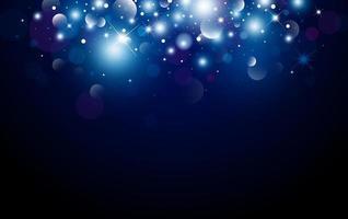 Weihnachtshintergrunddesign von Bokeh und Lichteffektvektorillustration