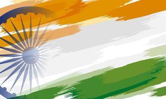 15. August Indien Unabhängigkeitstag Hintergrund Design der Farbe malen auf weißem Hintergrund Vektor-Illustration
