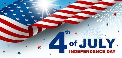 4 juli illustration för självständighetsdagvektor vektor