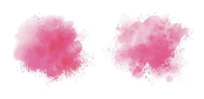 rosa Aquarell auf weißem Hintergrundvektorillustration