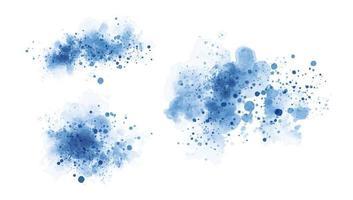 blå akvarell på vit bakgrundsvektorillustration vektor