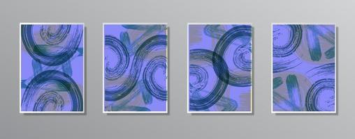 uppsättning kreativa minimalistiska handritade vintage neutrala färgillustrationer vektor