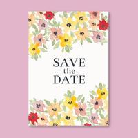 Vektor akvarell elegant bröllopskort