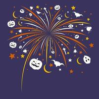 Halloween Feuerwerk Design Vektor-Illustration