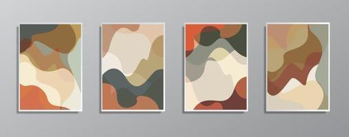 Satz kreative minimalistische handgezeichnete Vintage neutrale Farbillustrationen für Wand. für Geschenkkarte, Poster an Wand Poster Vorlage, Landing Page, UI, UX, Coverbook, Baner,