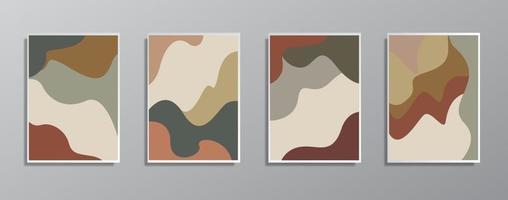 Satz kreative minimalistische handgezeichnete Vintage neutrale Farbabbildungen vektor