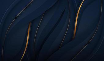 Papierschnitt Luxus Gold Hintergrund mit Metall Textur 3D abstrakt, für Geschenkkarte, Poster auf Wand Poster Vorlage, Landing Page, UI, UX, Cover Book, Banner,