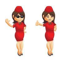 Flugbegleiter Stewardess Set