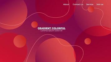 modern abstrakt gradient vågig geometrisk bakgrund. lämplig för tapet, banner, bakgrund, kort, bokillustration, målsida, gåva, omslag, flygblad, rapport, affär, sociala medier vektor