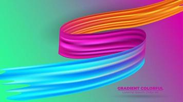 färg penseldrag olja eller akrylfärg bakgrund modern färgglada. lämplig för tapet, banner, bakgrund, kort, bokillustration, målsida, gåva, omslag, flygblad, rapport, affär, vektor