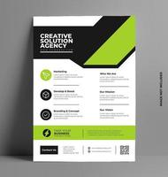 Flyer Design Layout Vorlage in a4 Größe.