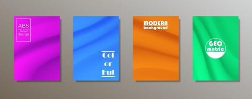 buntes minimalistisches Abdeckungsdesign. minimale geometrische Musterverläufe