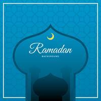 Flacher Ramadan-Vektor-Hintergrund