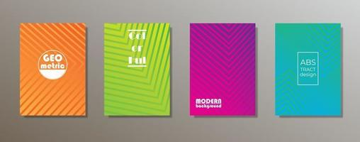 buntes minimalistisches Abdeckungsdesign. minimale geometrische Musterverläufe vektor