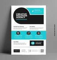 Business Flyer Layout-Vorlage in a4 Größe. vektor