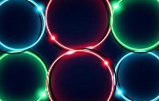 Neon Kreis Luxus Hintergrund mit Metall Textur 3d abstrakt. Geeignet für Tapeten, Banner, Hintergrund, Karte, Buchillustration, Landing Page, Geschenk, Cover, Flyer, Bericht, Geschäft, Social Media