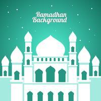 Weißer Moschee Ramadhan-Hintergrund-Vektor vektor