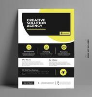 gelbe Flyer Layoutvorlage in A4 Größe. vektor