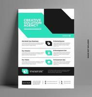 Flyer Illustration Layout-Vorlage in a4 Größe.