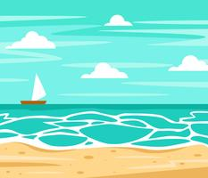 Strand-Hintergrund-Vektor vektor