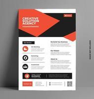 Business-Flyer-Vorlage für Unternehmen. vektor