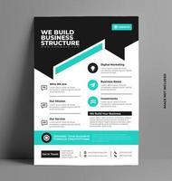 mall för företagsreklamblad i a4-storlek. vektor