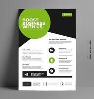 Flyer Design Layout Vorlage in a4 Größe. vektor
