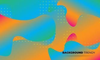 kreative geometrische Tapete. trendiger Flüssigkeitsströmungsgradient formt Zusammensetzung. Visual Supply Company Hintergrund für Geschenkkarte, Poster an der Wand Poster Vorlage, Landing Page, UI, UX, Coverbook, Baner, vektor