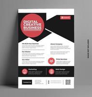 mall för företagsutskriftsblad i A4-storlek. vektor