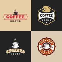 uppsättning vintage kaffemärkesdesigner