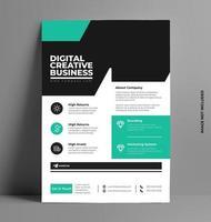 Vektor Flyer Business Broschüre Vorlage.