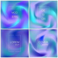 minimal abstrakt vektor vätska täcka mall. holografi gradient bakgrund. vektormallar för plakat, banderoller, flygblad, presentationer och rapporter